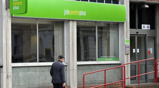 A Jobcentre Plus office (Nick Ansell/PA)