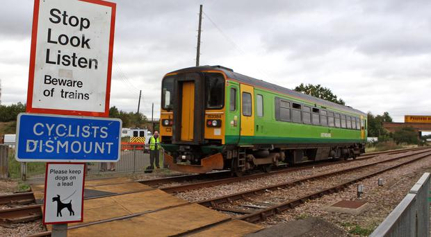 In the last year there has been a 12% spike in the total number of incidents at crossings (Chris Radburn/PA)