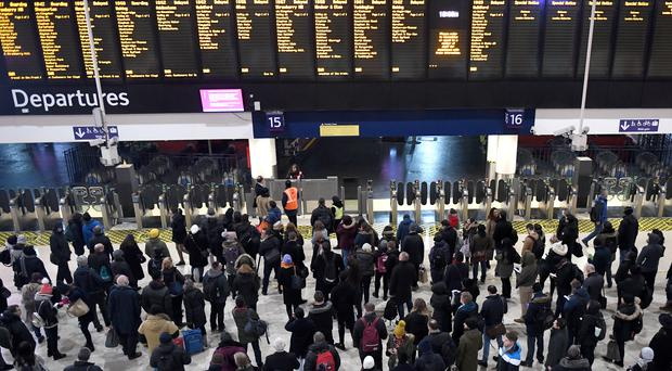 Passengers are being urged to check train timetables (Victoria Jones/PA)
