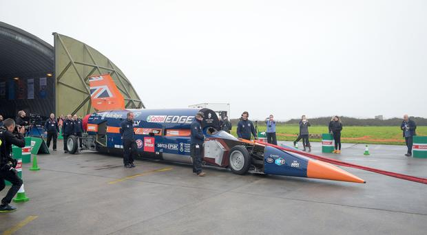 The Bloodhound SSC is designed to reach 1,000mph (Ben Birchall/PA)