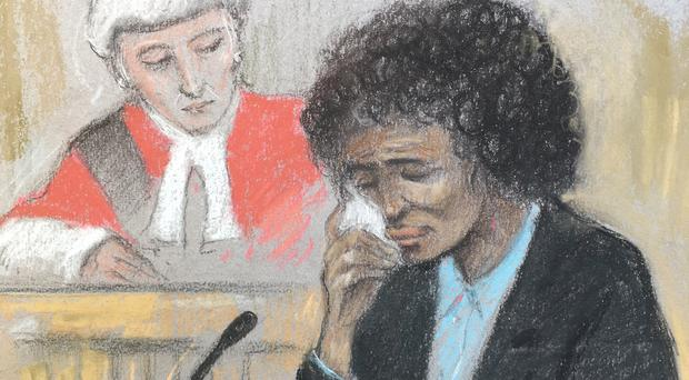 Berlinah Wallace was found guilty of throwing acid on her former partner (Elizabeth Cook/PA)