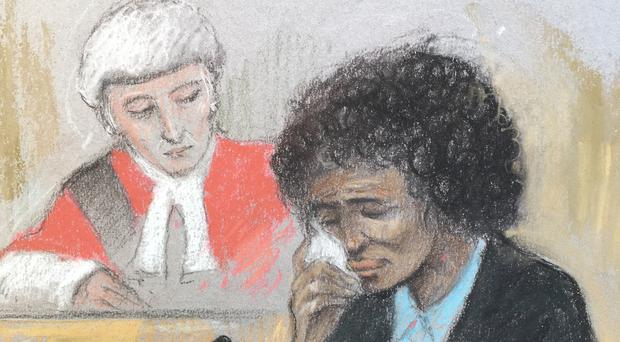 Berlinah Wallace in the dock at Bristol Crown Court (Elizabeth Cook/PA)