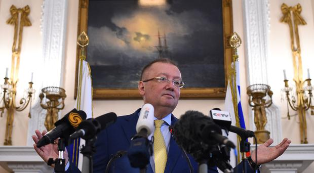 Alexander Yakovenko has claimed the UK is violating international law by not granting access to the Skripals (Kirsty O'Connor/PA)