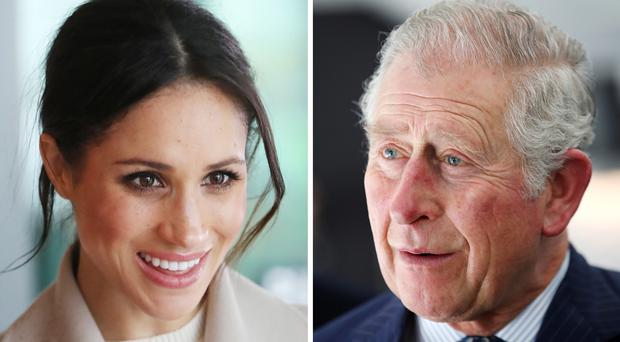 Charles will accompany Ms Markle down the aisle (PA)