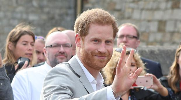 Prince Harry met members of the public outside Windsor Castle ahead of his wedding to Meghan Markle (Jonathan Brady/PA)