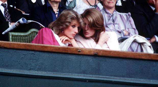 Lady Jane Fellowes and her sister, Diana, Princess of Wales (PA)