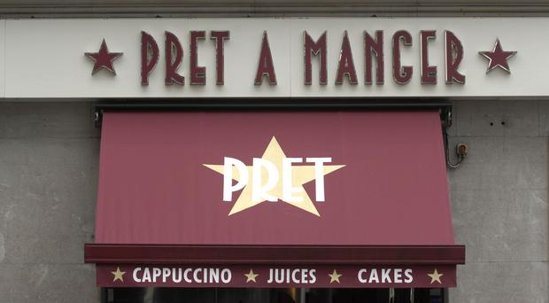 Pret A Manger staff are offering a booklet to customers which raises a number of environmental issues (PA)