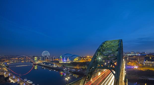 An artist's impression of how the Whey Eye will complement Tyneside's landscape (Graeme Peacock/World Wheel Company/PA)