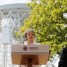 Prime Minister Theresa May at Jodrell Bank (Darren Staples/PA)
