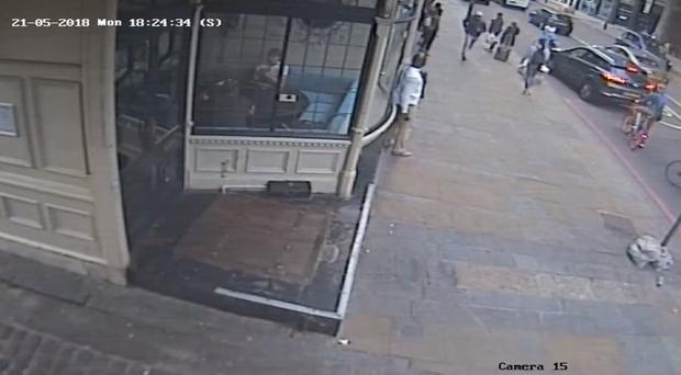 CCTV footage of the aftermath of a stabbing (PA)