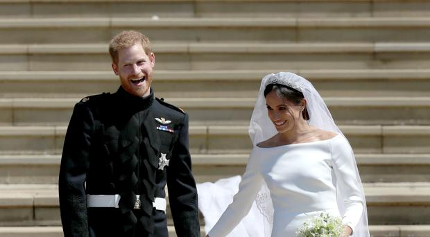 Harry and Meghan leave St George's Chapel after their wedding