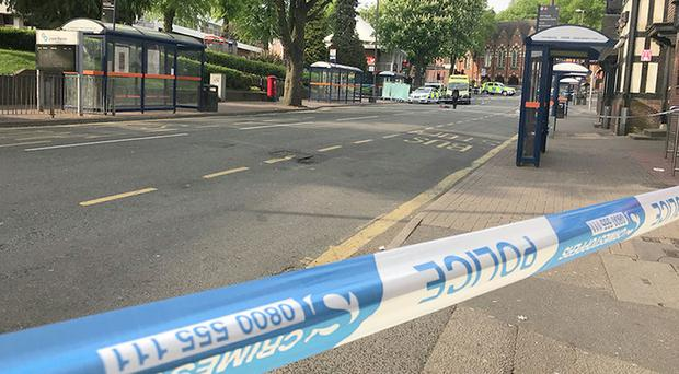 The scene of the stabbing in Sutton Coldfield (Phil Barnett/PA)