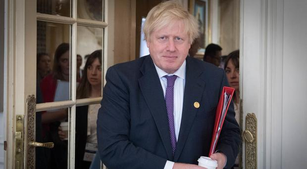 Boris Johnson arrives at a meeting at the G20 Summit of Foreign Ministers in Argentina (Stefan Rousseau/PA)