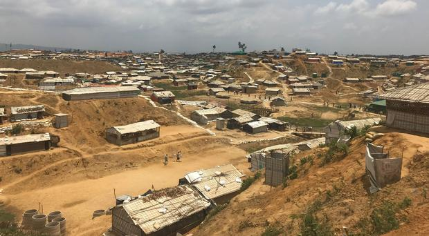 A Rohingya refugee camp, where many woman are pregnant after being raped (Jemma Crew/PA)