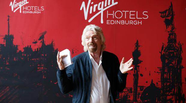 Sir Richard Branson during the Virgin Hotels groundbreaking event at India Buildings (Robert Perry/PA)