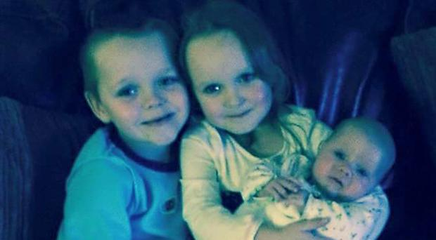 Brandon, Lacie and Lia Pearson died following a blaze at their home in Greater Manchester (Greater Manchester Police/PA)