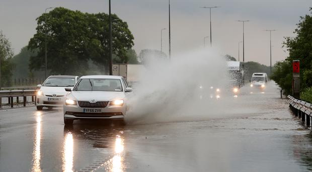 The Midlands area was hit by extremely wet weather on Sunday (David Davies/PA)