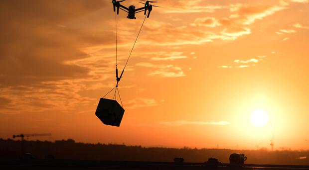 'PwC's report also found that drone technology could help the UK achieve up to £16bn in net cost savings by 2030 through increased productivity' (stock photo)