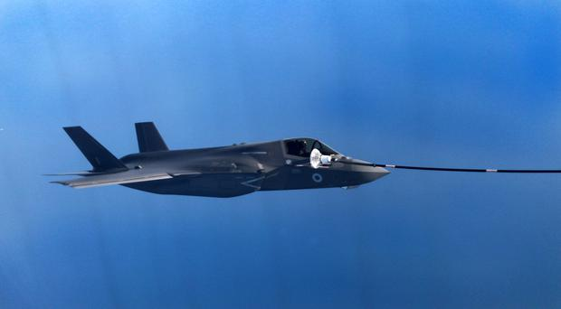 A UK F-35B Lightning jet during a refuelling exercise (Ken Pike/MoD/PA)
