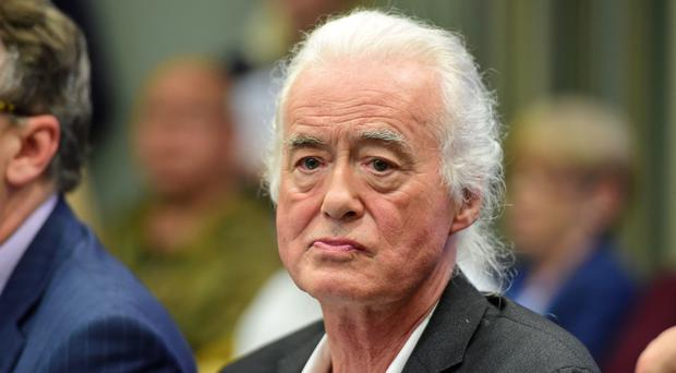 Led Zeppelin guitarist Jimmy Page during a planning permission meeting at Kensington Town Hall, London, where he will speak out against a planning application he believes will harm his home.