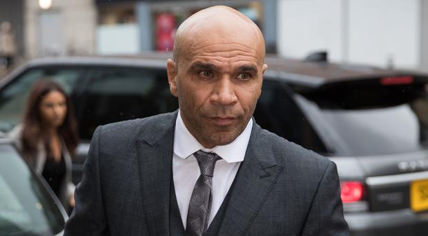 Musician Goldie, whose real name is Clifford Joseph Price, arrives at Bristol Magistrates' Court to be sentenced for assaulting a security guard at Glastonbury Festival in 2017 (Aaron Chown/PA)