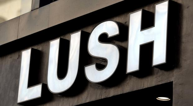 A shop sign for Lush in central London (Nick Ansell/PA)