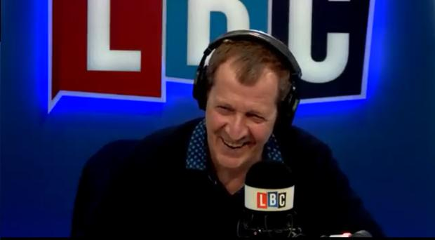 Alastair Campbell takes a call from his daughter on LBC (LBC)