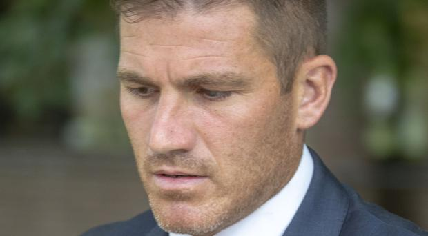 Footballer Ben Chorley was fined £1,000 for taking a photograph and a short clip during the hearing (Steve Parsons/PA)