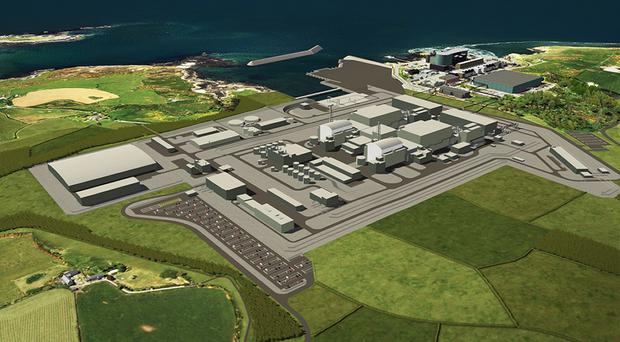 Artist's impression of a planned nuclear power station at Wylfa (Horizon/PA)