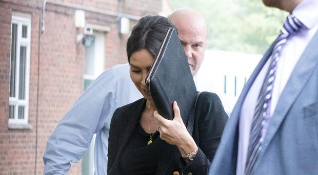 Christine Lampard arrives at Isleworth Crown Court.