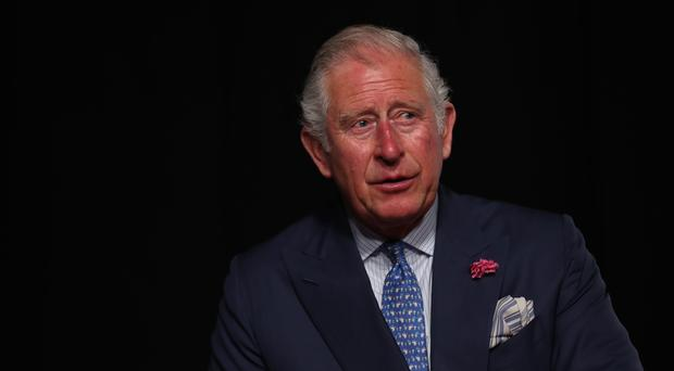 Charles highlighted his support for efforts to tackle the waste in oceans (Steve Parsons/PA)