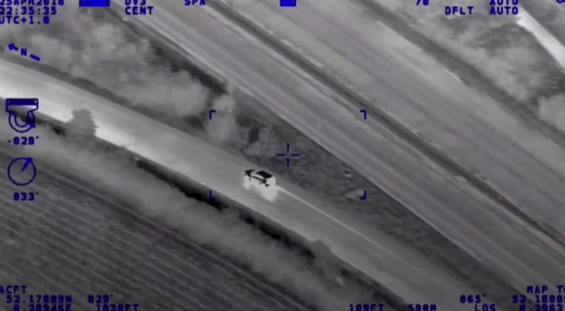 Police helicopter footage (Cambridgeshire Police/PA)
