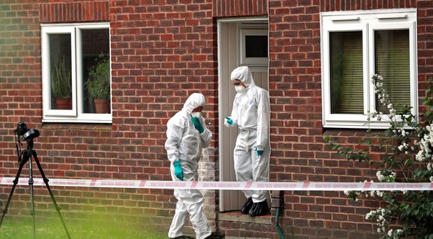 Police said the child is in a critical but stable condition, while the woman's injuries are not life-threatening (Steve Parson/PA)