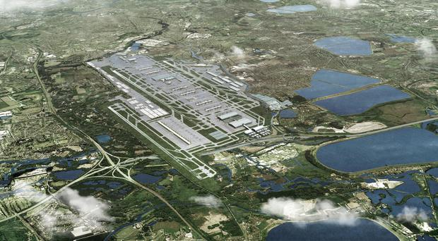 Undated handout file image issued by Heathrow Airport of an artist's impression showing how the airport could look with a third runway, the Cabinet has approved the building of a third runway at the airport, Transport Secretary Chris Grayling told the Commons in London.