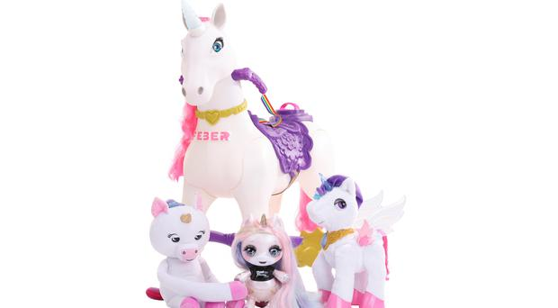 Unicorns are set to feature highly on this year's Christmas wish lists (Argos/PA)