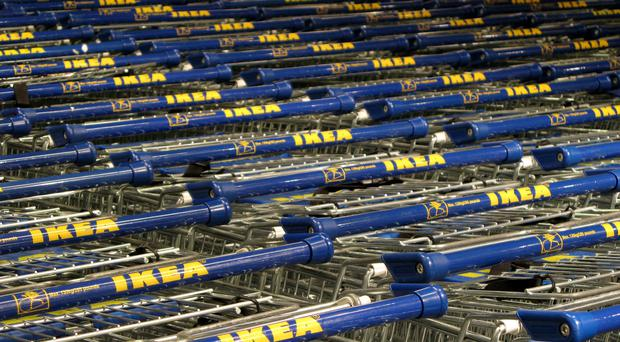 File photo dated 12/02/07 of Ikea trolleys, as the homeware giant pledged to remove single-use plastics from its global range by 2020.