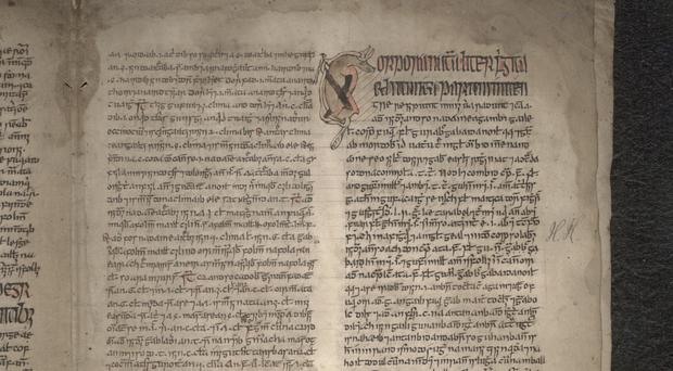 A page from a medical manuscript from the library's early gaelic collection (NLS/PA)
