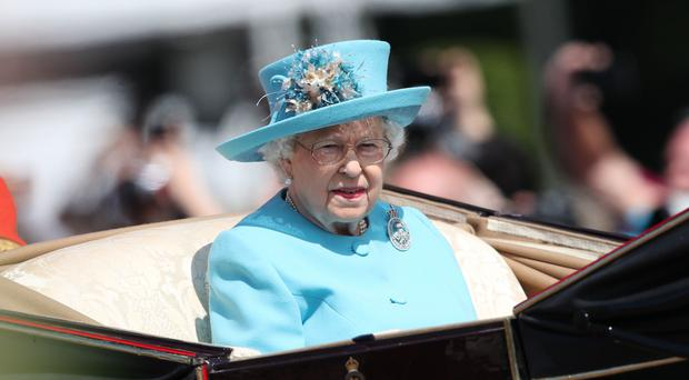 The Queen on the way to Horse Guards Parade (Yui Mok/PA)