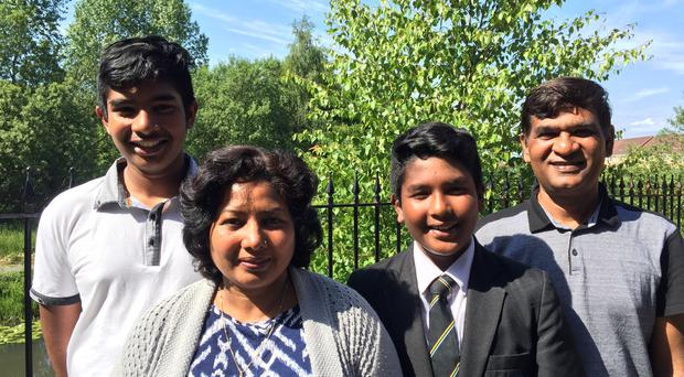 The Bakhsh family fear they will be killed if they are forced to return to Pakistan (Cameron Brooks/Church of Scotland/PA)