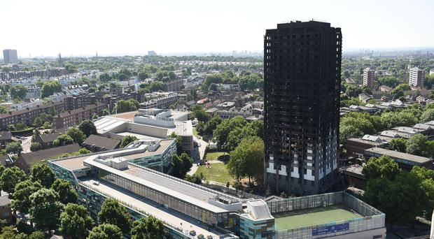 Grenfell Tower after the fire (David Mirzoeff/PA)