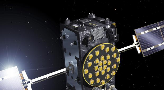 Artist's view of a Galileo Full Operational Capability (FOC) satellite (Pierre Carril/ESA/PA)