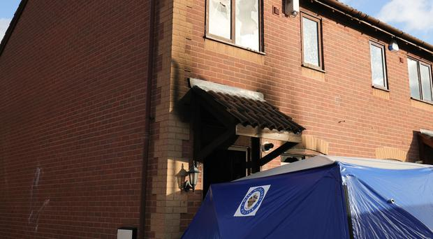 A general view of a property in Birchtrees Drive, Tile Cross, Birmingham, as a 56-year-old man is fighting for his life after a fire at his home – with police saying the blaze may have been an arson attack started by a firework.