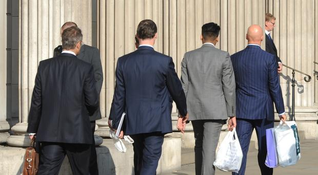 MPs criticised the predominance of men in the City (Nick Ansell/PA)
