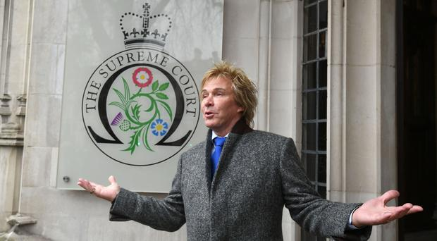Pimlico Plumbers chief executive Charlie Mullins outside the Supreme Court, London, in February (PA/Victoria Jones)