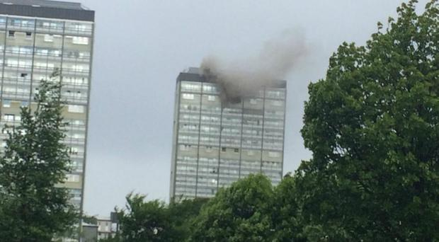 Firefighters were called to the Gorbals around 8.30am on Thursday (@heyitsnichoie/PA)