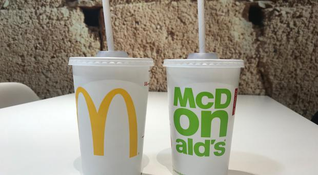 McDonald's is replacing plastic straws with paper ones from September (McDonald's/PA)