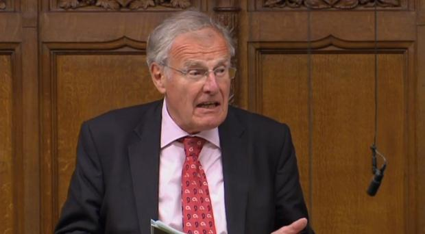 Sir Christopher Chope speaking in the House of Commons, London (PA)