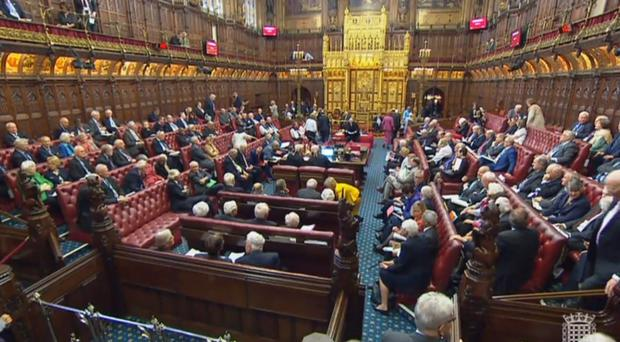 Peers in the House of Lords, London (PA)