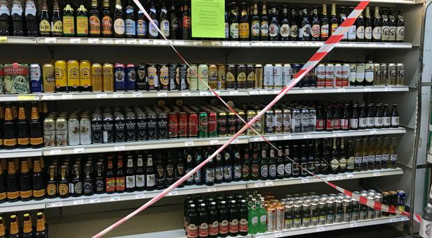 Alcoholic drinks are no longer available to buy in Volgograd supermarkets ahead of England's first match (Aaron Chown/PA)
