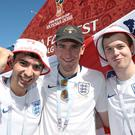 England fans arrive at FanFest in Volgograd (Aaron Chown/PA)